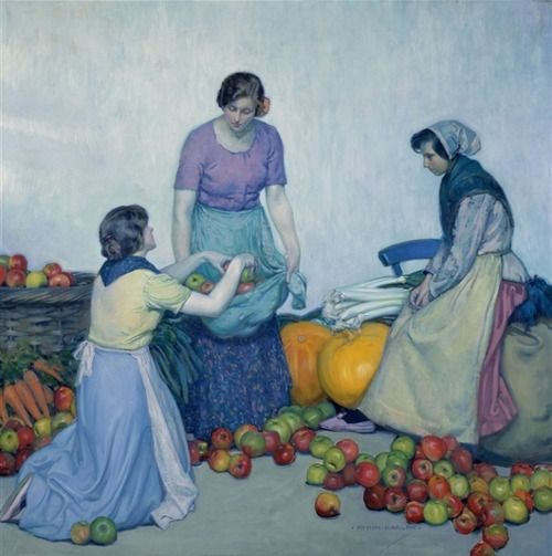 Apples, 1914    Myron Barlow    Oil on Canvas