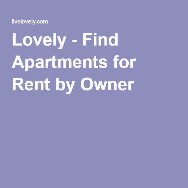 Find Apartments For Rent By Owner