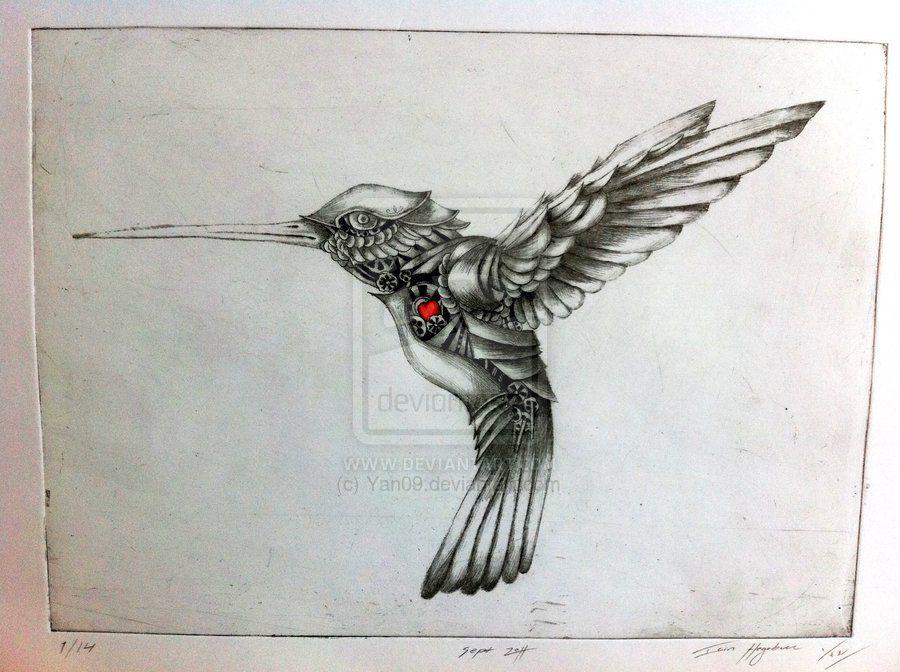 Clockwork Hummingbird By Yan09 On Deviantart Steampunk Tattoo Steampunk Drawing Hummingbird Tattoo