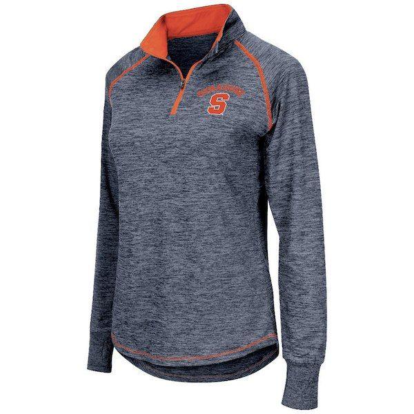 c16c6f5651c7 Syracuse Orange Colosseum Women s Bikram 1 4 Zip Long Sleeve Jacket - Navy   SyracuseOrange