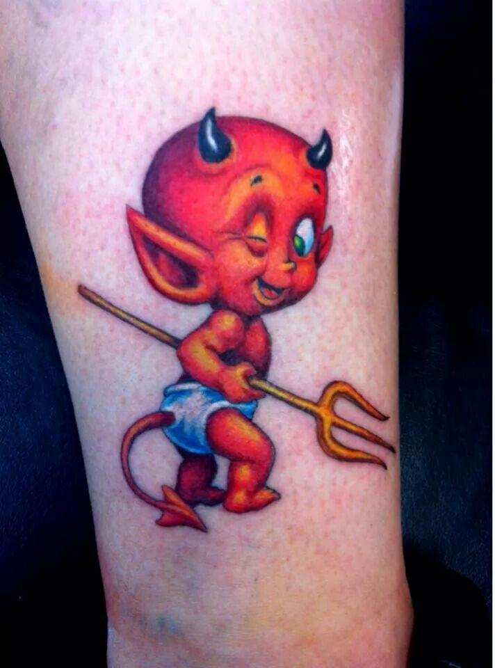 e2e609769 Little Devil Tattoo | tattoo | Devil tattoo, Tattoo images, Body art ...