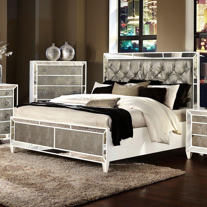 Monroe Panel Bed | Bedroom ideas in 2019 | Glass bedroom set ...