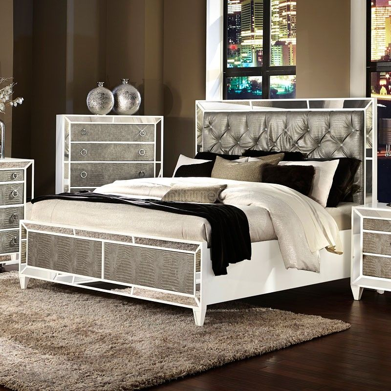 Monroe Panel Bed | Mirrored bedroom furniture, Bedroom ...