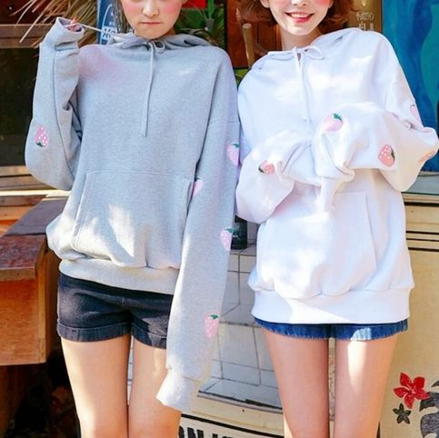 Cute Kawaii Cat Embroidery Hoodie Pullover SP1710563