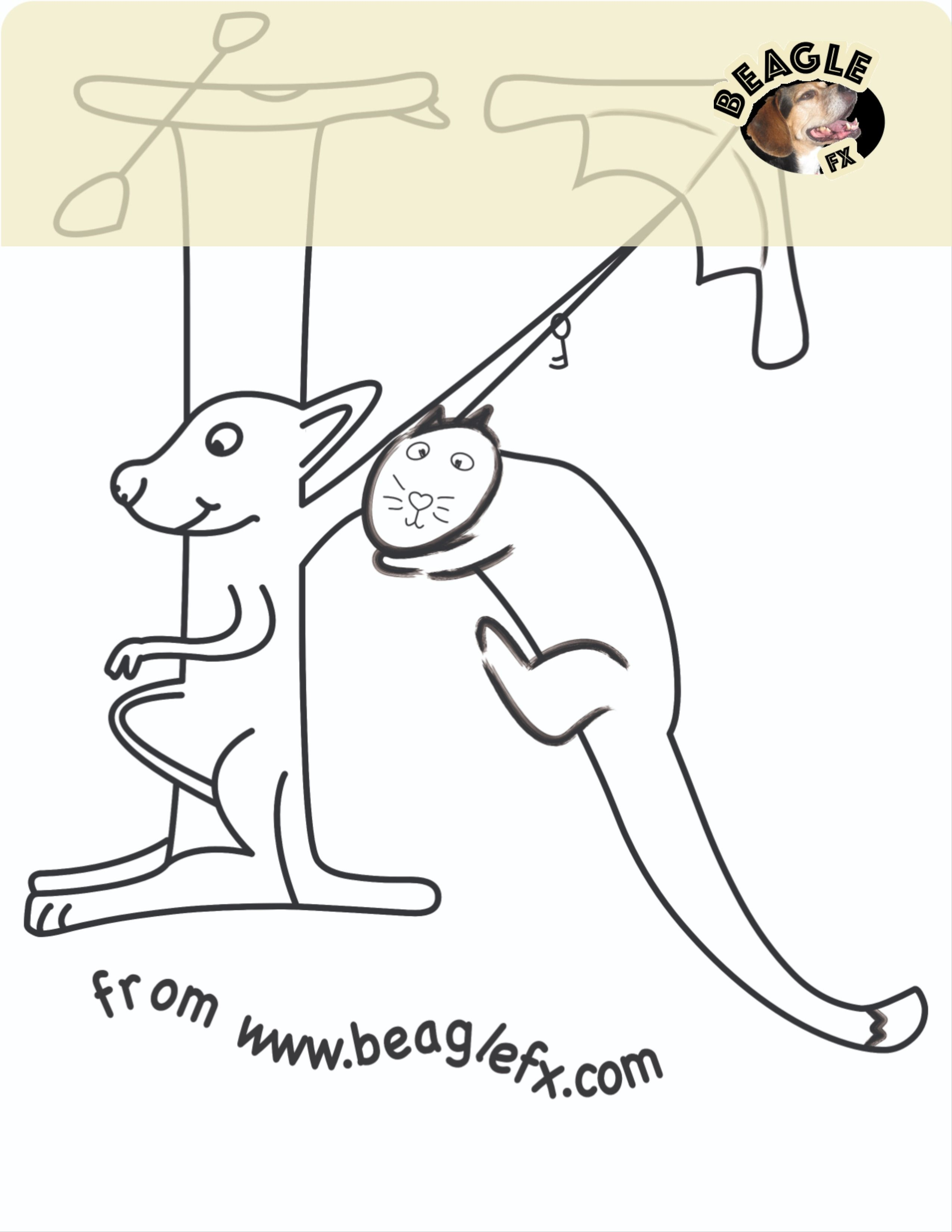 Free Letter K Coloring Sheet from your Design Co. BeagleFX