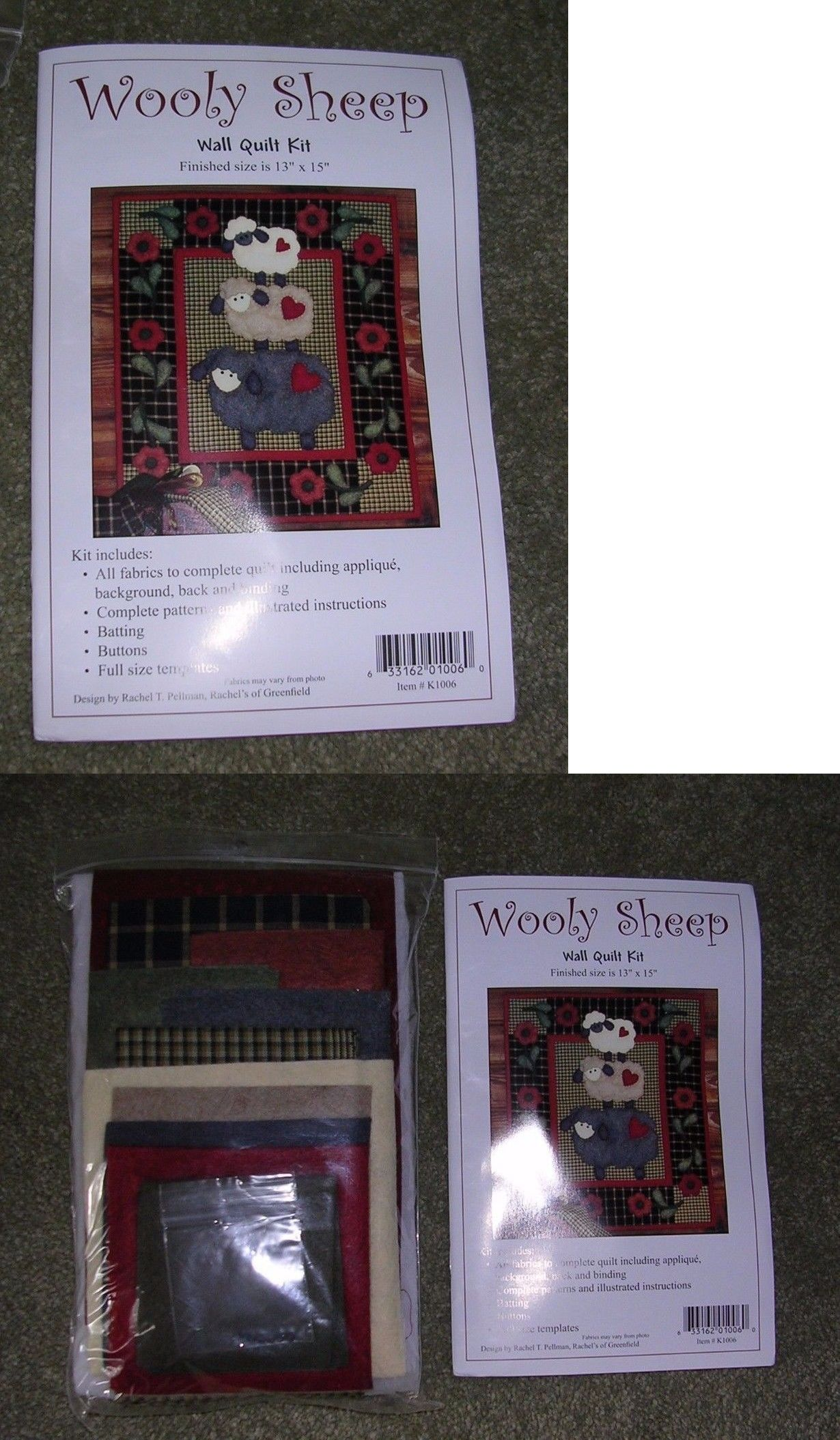 b81d061cefcb Quilt Patterns 83957  Wooly Sheep Applique Wall Quilt Kit By Rachel Pellman  -  BUY IT NOW ONLY   35.99 on eBay!