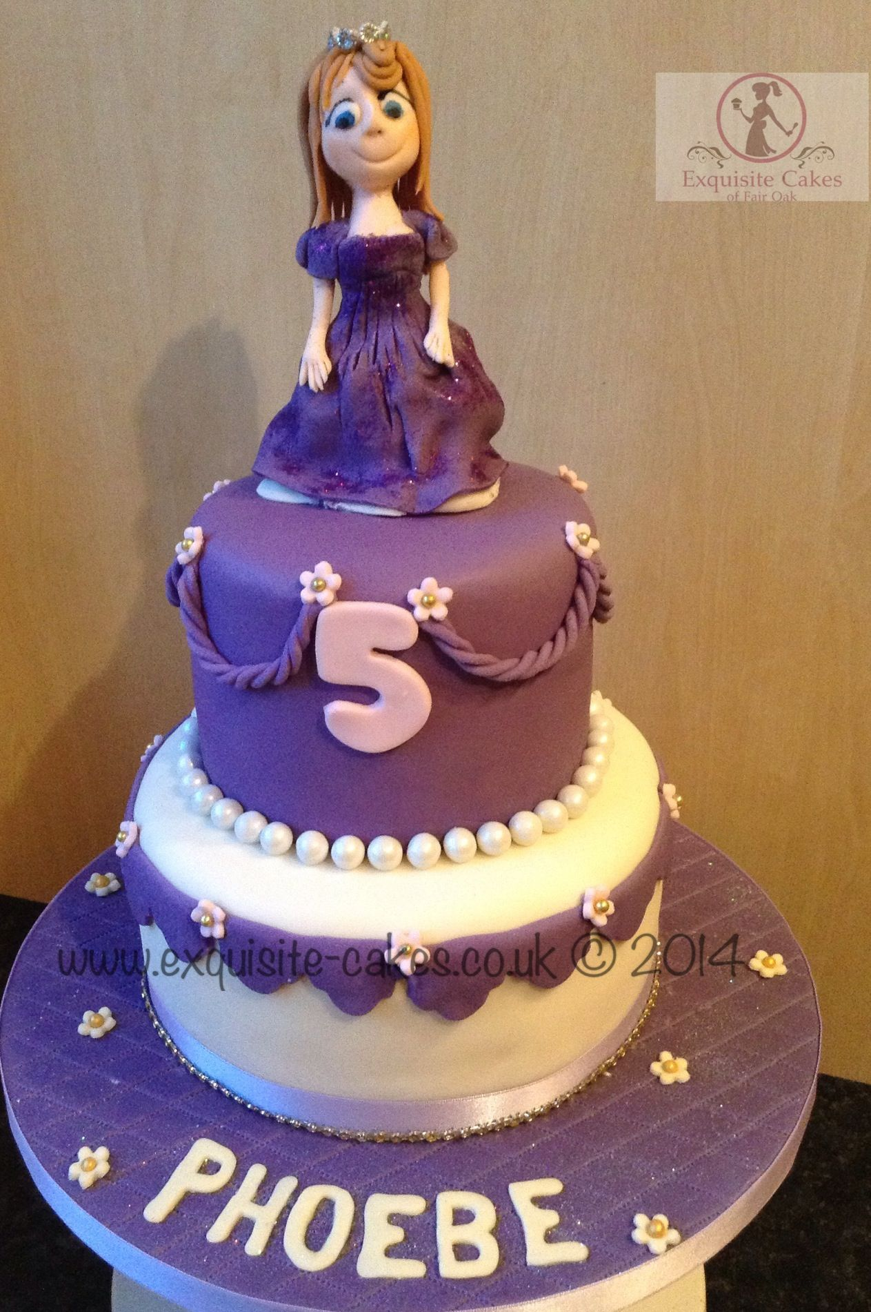 5th Birthday Princess Cake Exquisite Cakes Made By Me Pinterest