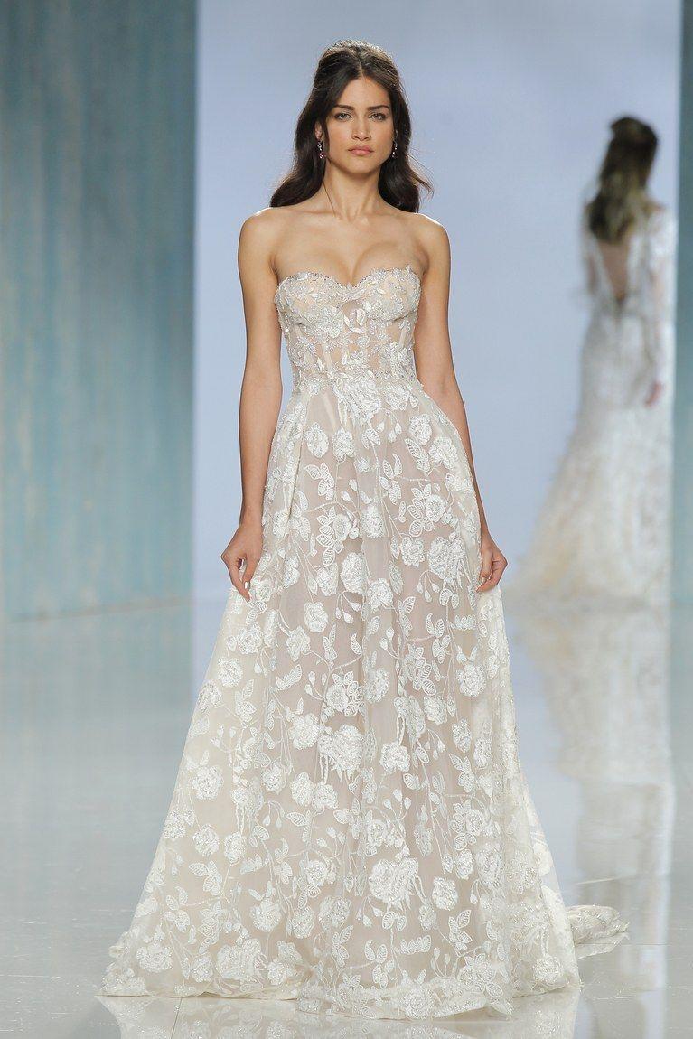 Floral wedding dresses from the bridal runways galia lahav floral