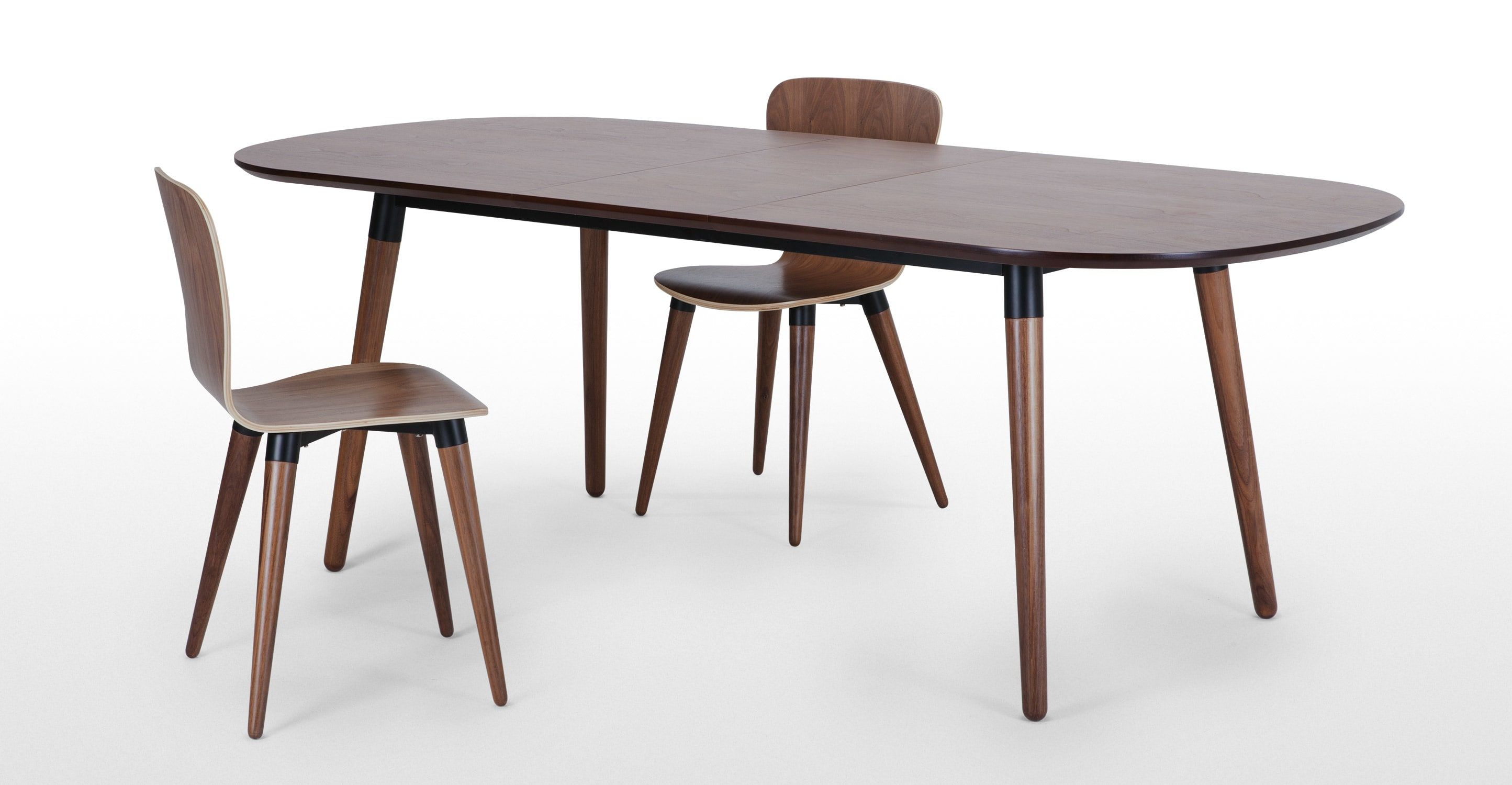 Edelweiss 68 Seat Oval Extending Dining Table, Walnut and