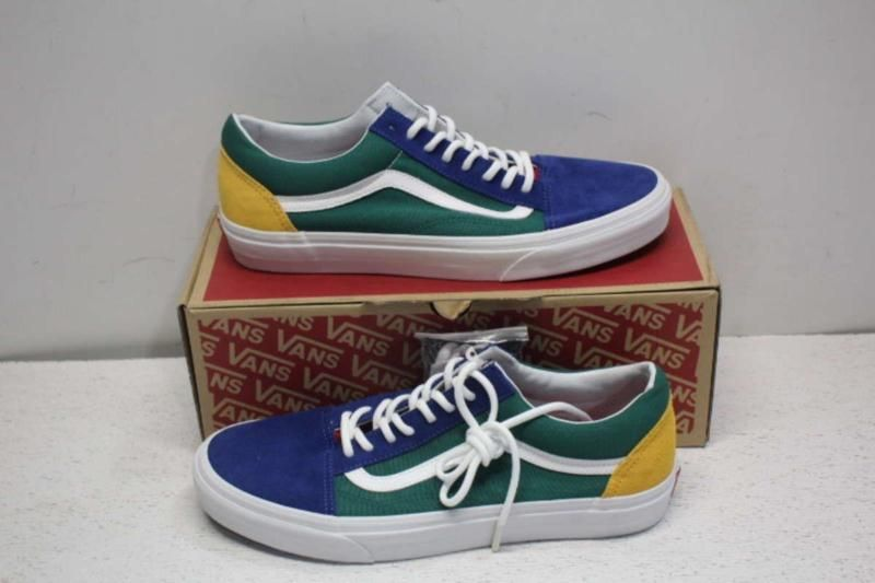 Van S Men S 11m Yacht Club Old Skool Sneakers Blue Green Yellow 00497219 With Images Sneakers Blue Stylish Running Shoes