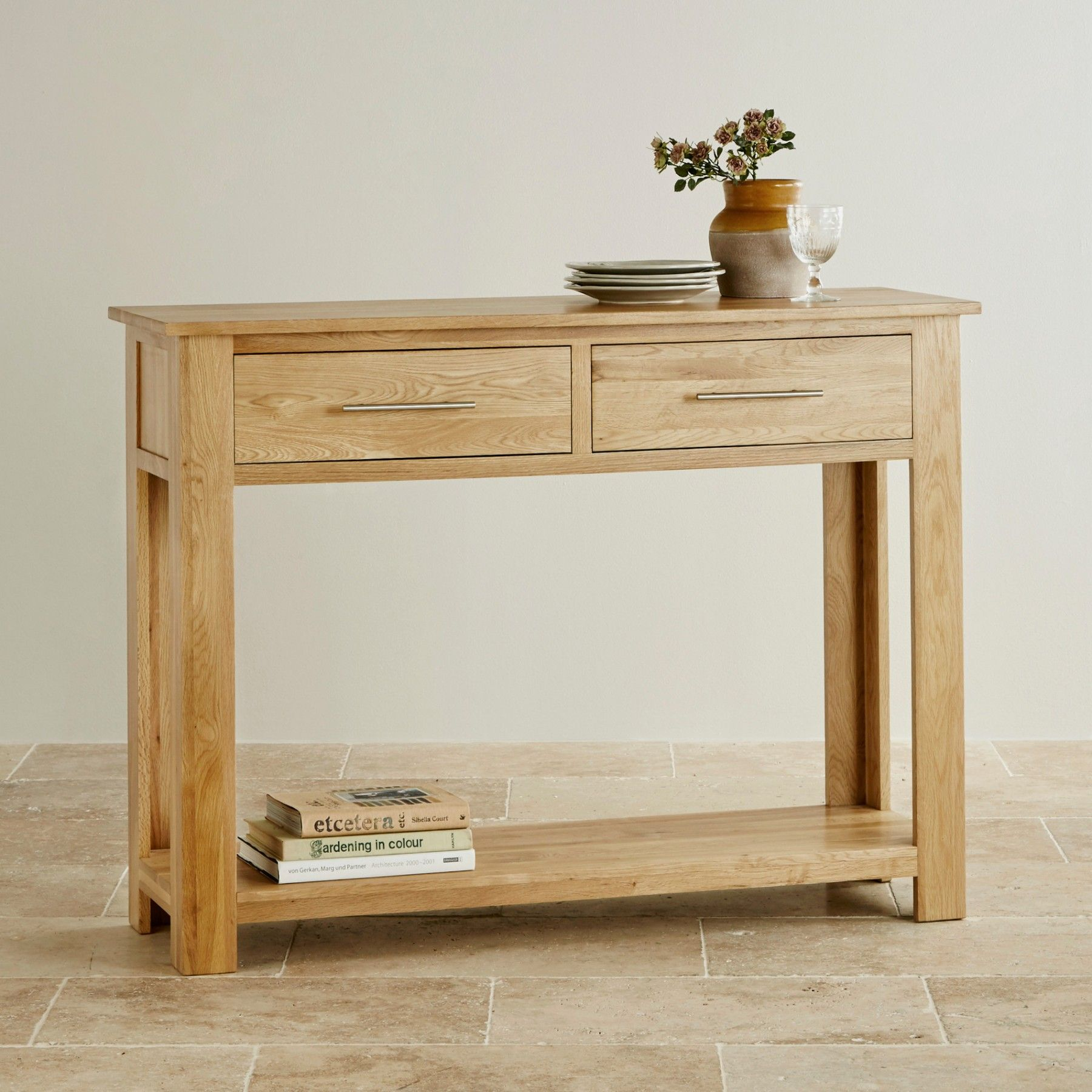 Rivermead Natural Solid Oak Console Table Muebles Carpinteria