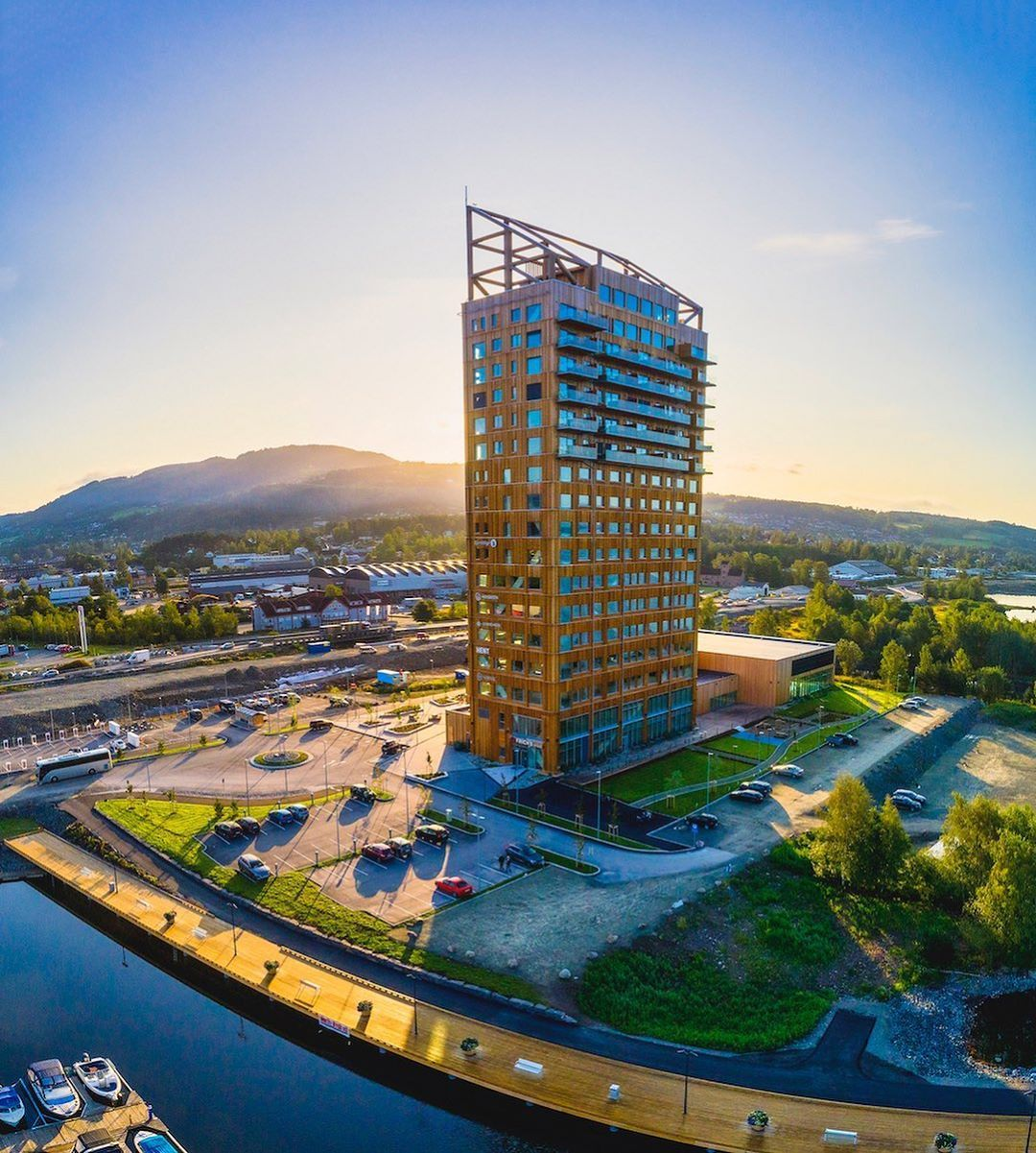 The Tallest Wooden Building In The World Meet The Mjosa Tower The Building P The Tallest Wooden Building In The World Meet The Mjosa Tower The Buildi