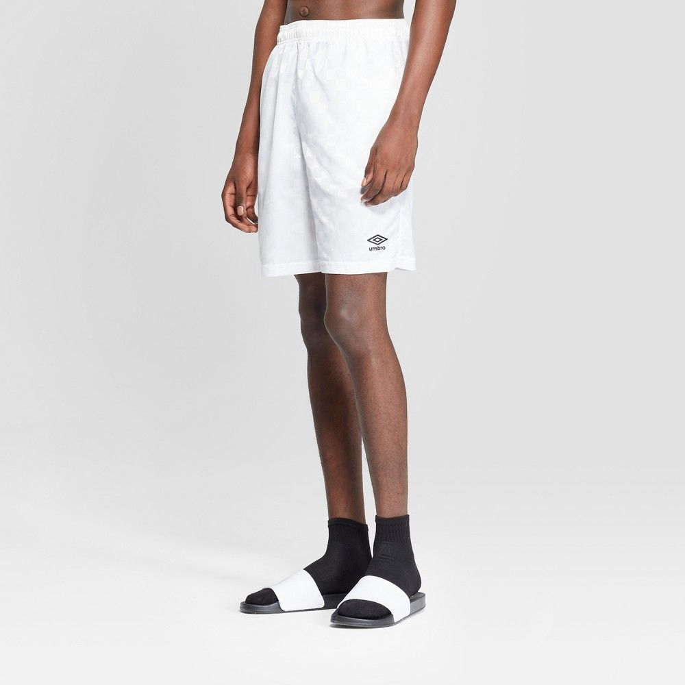 dc2001fff Take your style from the couch to the playing field with these men's Soccer  Checkerboard Shorts from Umbro. These men's soccer shorts feature a subtle  ...