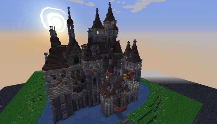 Oakheart Castle Ii Schematic Minecraft Project Amazing Minecraft Minecraft Projects Castle
