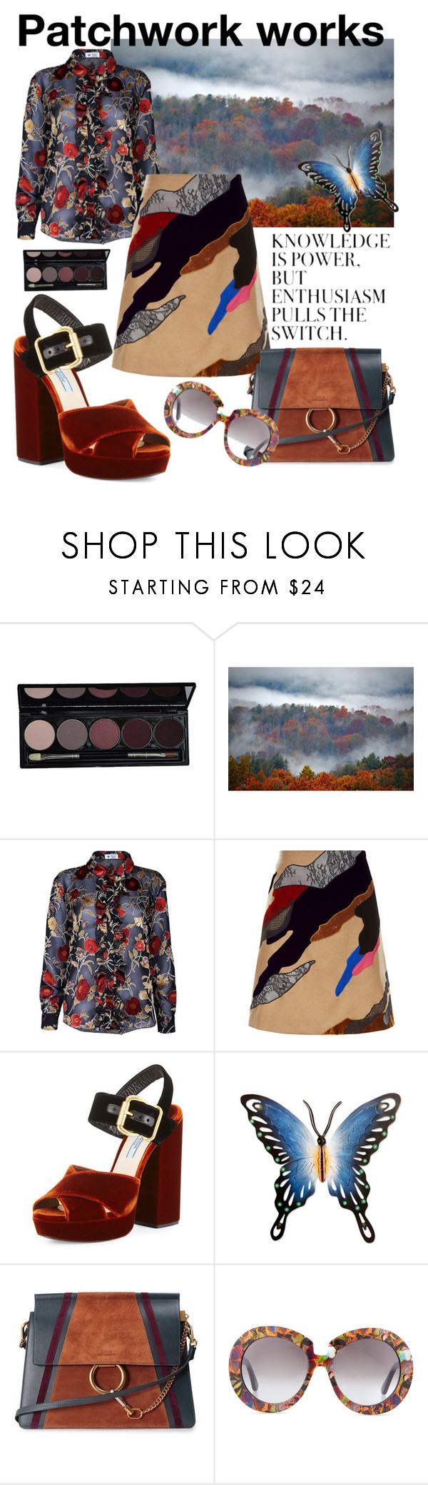 """""""Sin título #165"""" by anypalacios ❤ liked on Polyvore featuring The Bee's Sneeze, Koché, Prada, NOVICA, WALL, Chloé and Valentino"""