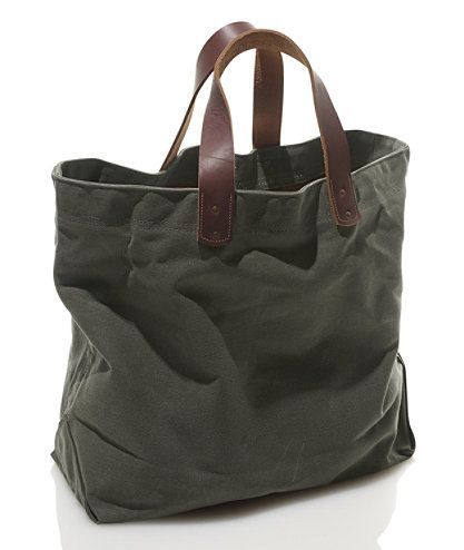 Tote for teaching gear, please ... in Field Olive - Waxed Canvas Tote Bag | Free Shipping at L.L.Bean