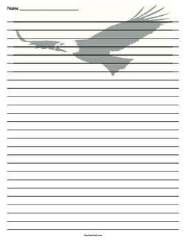 Eagle Lined Paper  Eagle