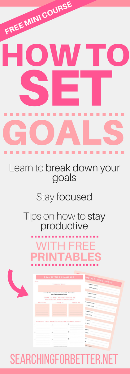 Goal Setting Course With Free Printable Goal Setting ...