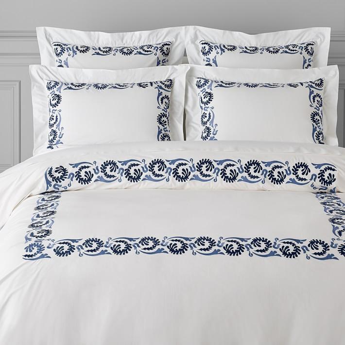 Simone Embroidered Shams Luxury Duvet Covers Embroidered Duvet Cover Bed Linen Sets