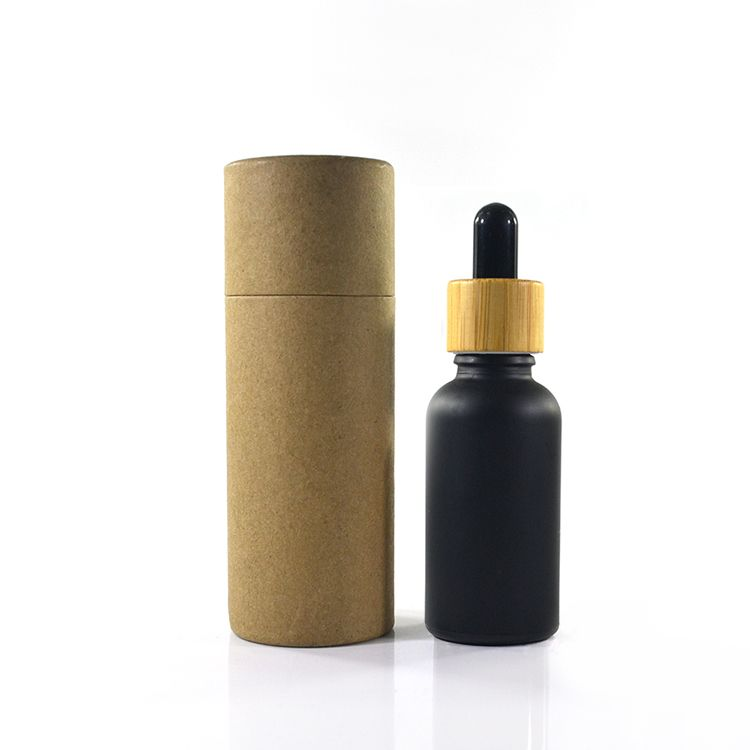 Hot 5ml 10ml 15ml 20ml 30ml 50ml 60ml 100ml Bamboo Cap Essential Oil Bottle Matte Black Red Frosted Gla Glass Spray Bottle Essential Oil Bottles Essential Oils