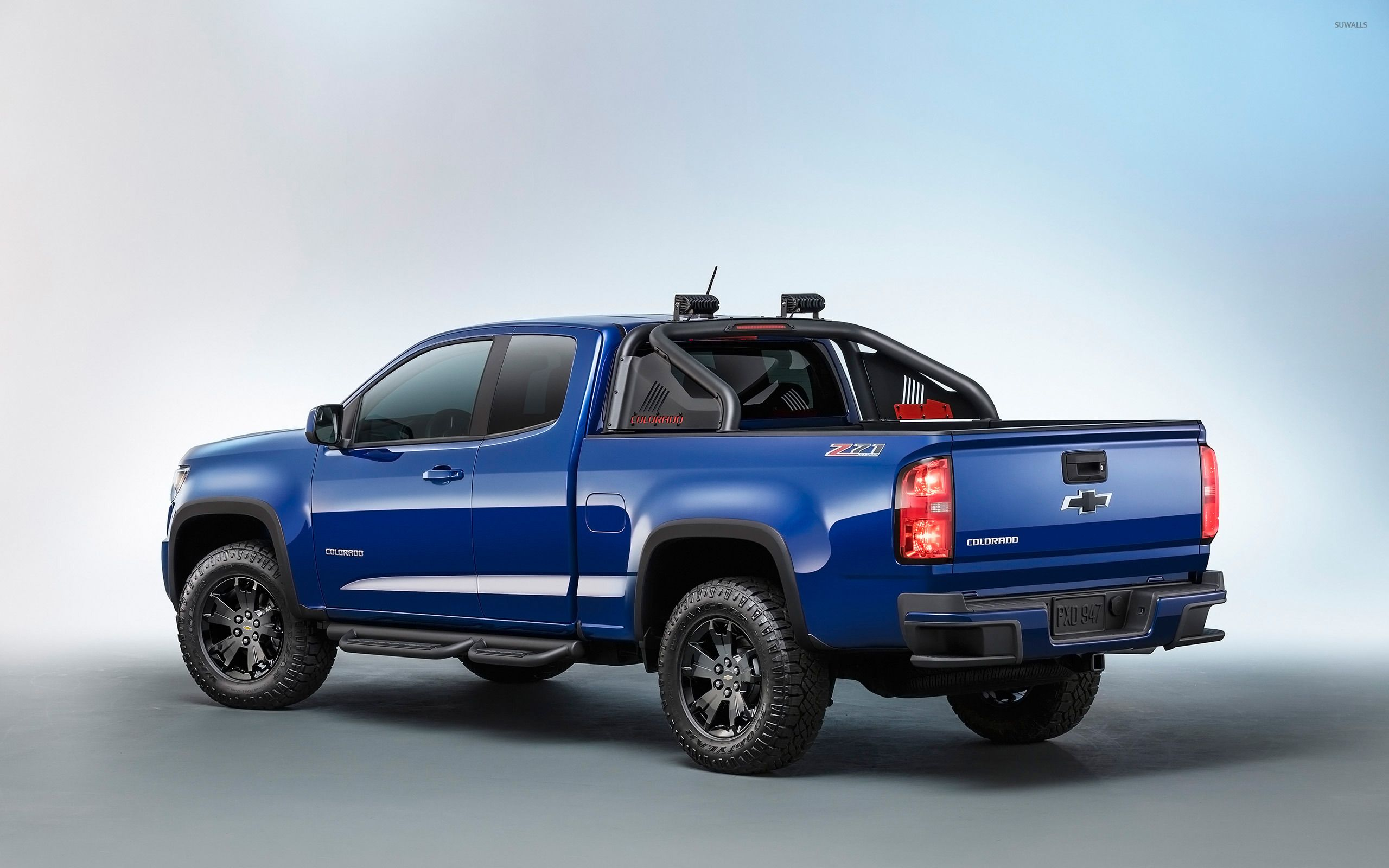 Blue Chevrolet Colorado Z Back Side View Wallpaper Car Chevy