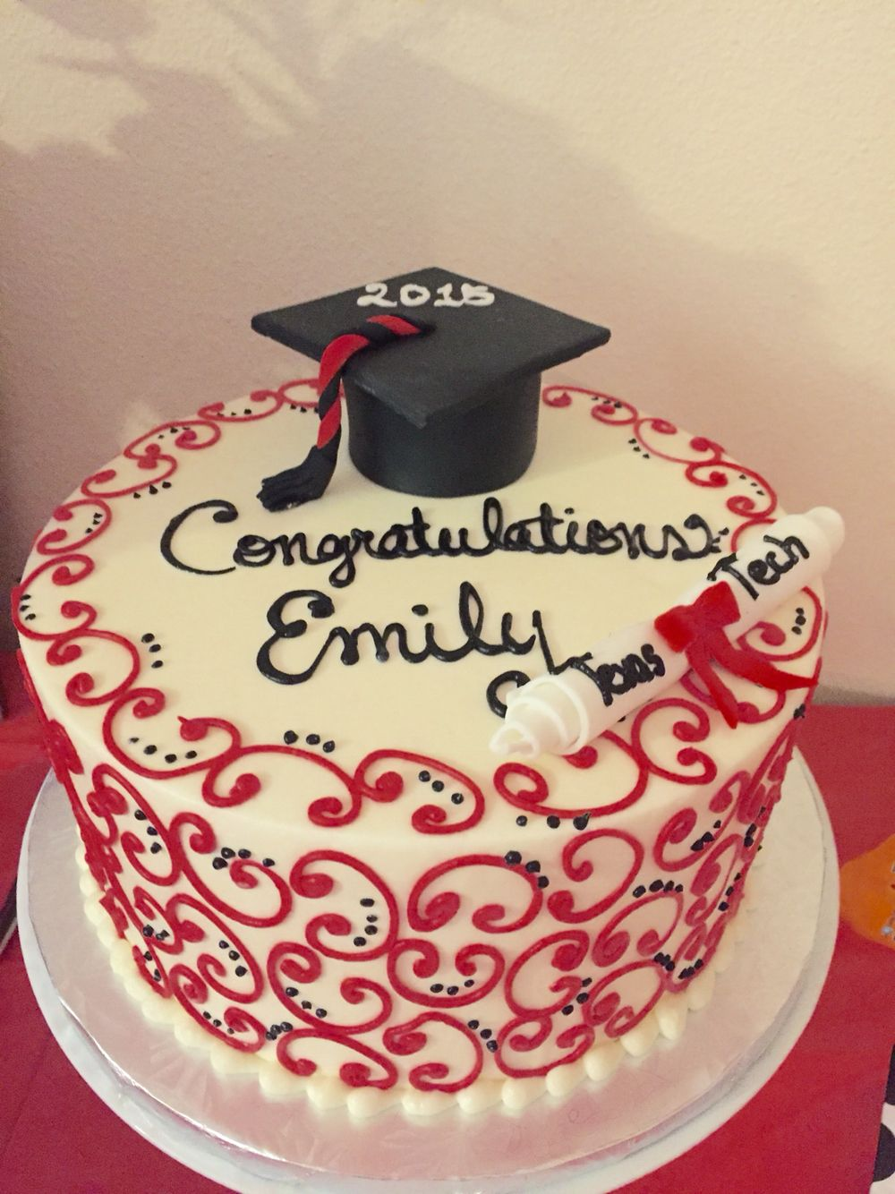 Cake Design For Matriculation : Texas Tech University cake- Simply Decadent Bakery ...