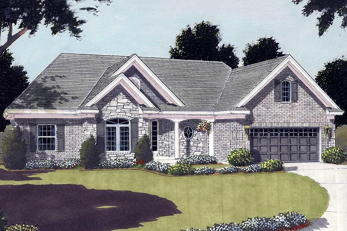 Plan 3914st Convenient Design Brick Exterior House Ranch Style House Plans Basement House Plans