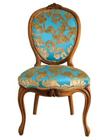 The elaborate carvings and classical designs of antique chairs