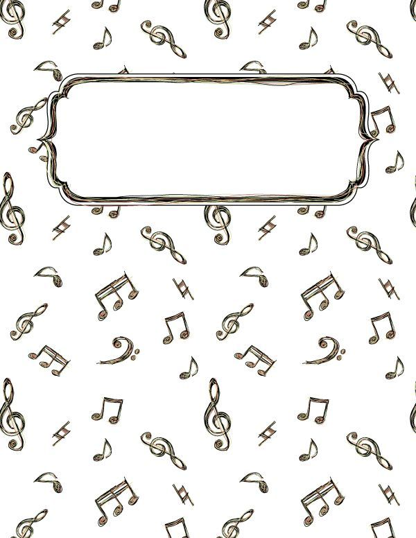 Free Printable Music Doodle Binder Cover Template Download The