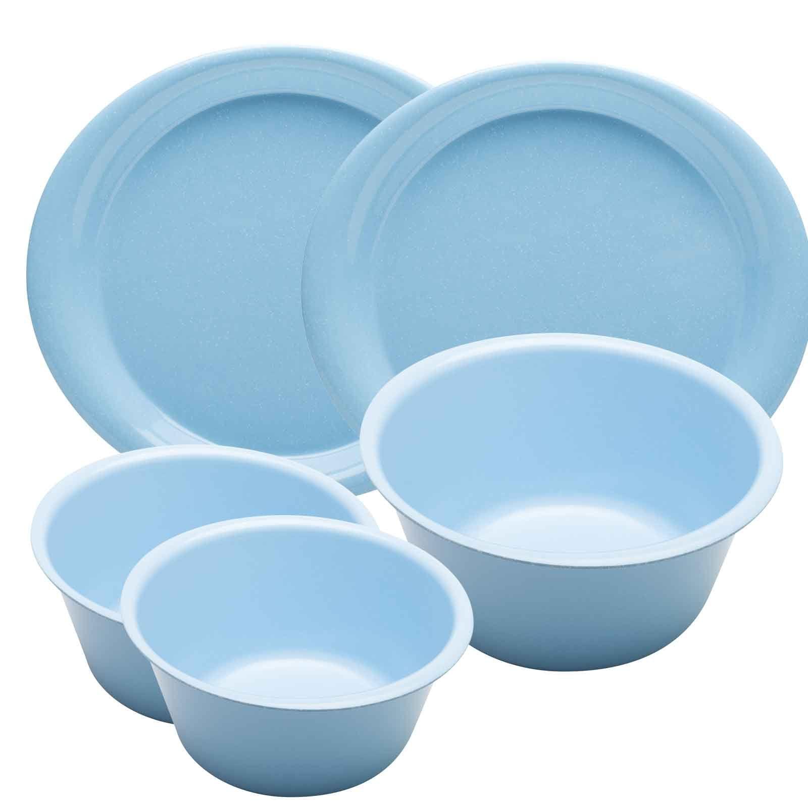Zakwave Microwave Safe 5 Piece Dinner Set Sky Blue Shown In Sky Blue Microwave Plate Meal Time Microwave
