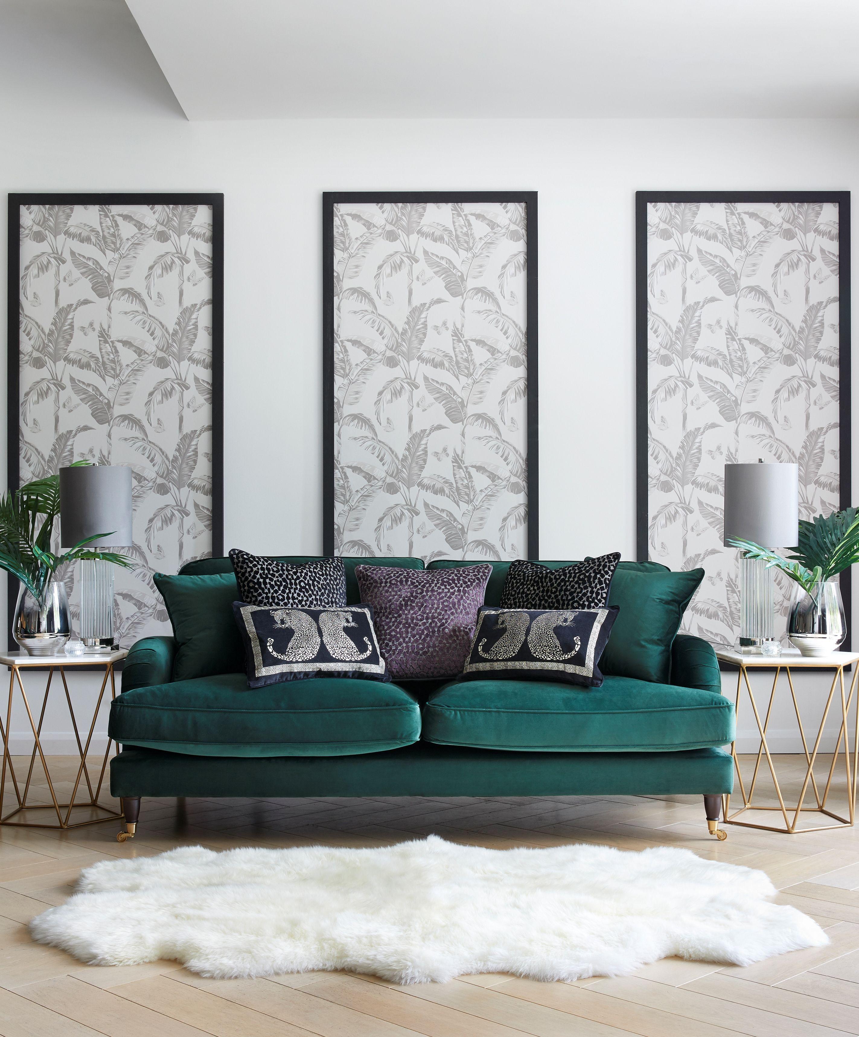 Looking for an on trend sofa in 2021   Velvet sofa living room, Green sofa living room, Teal ...