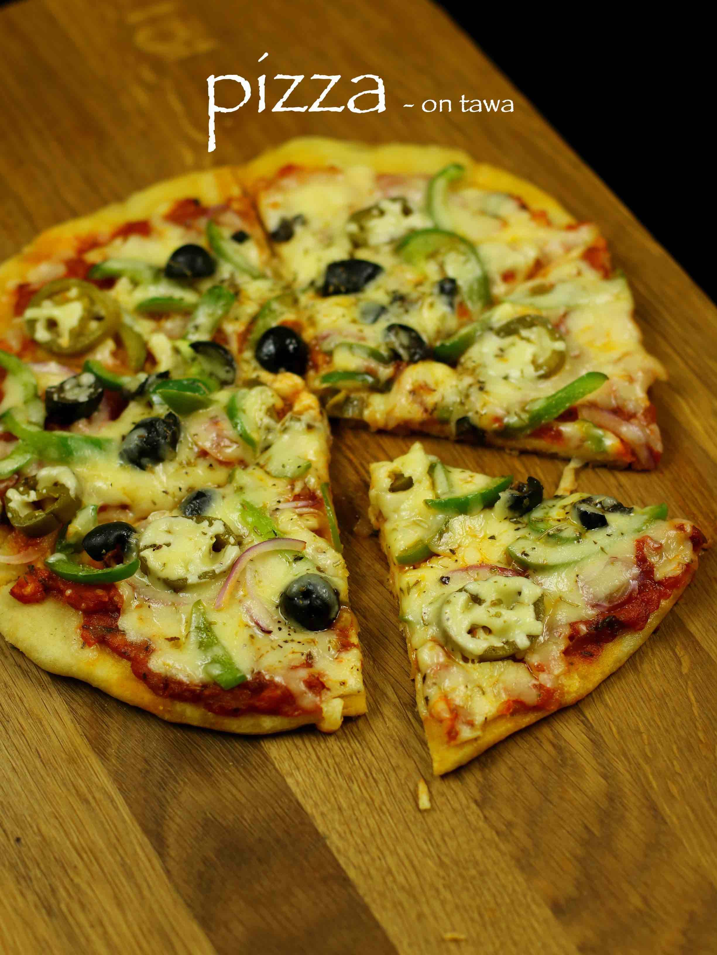 Pizza recipe veg pizza recipe tawa pizza recipe homemade pizza food forumfinder Image collections