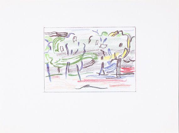 ROY LICHTENSTEIN - 'Landscape sketches' - limited edition offset lithograph - c1986 (Abrams, New York)