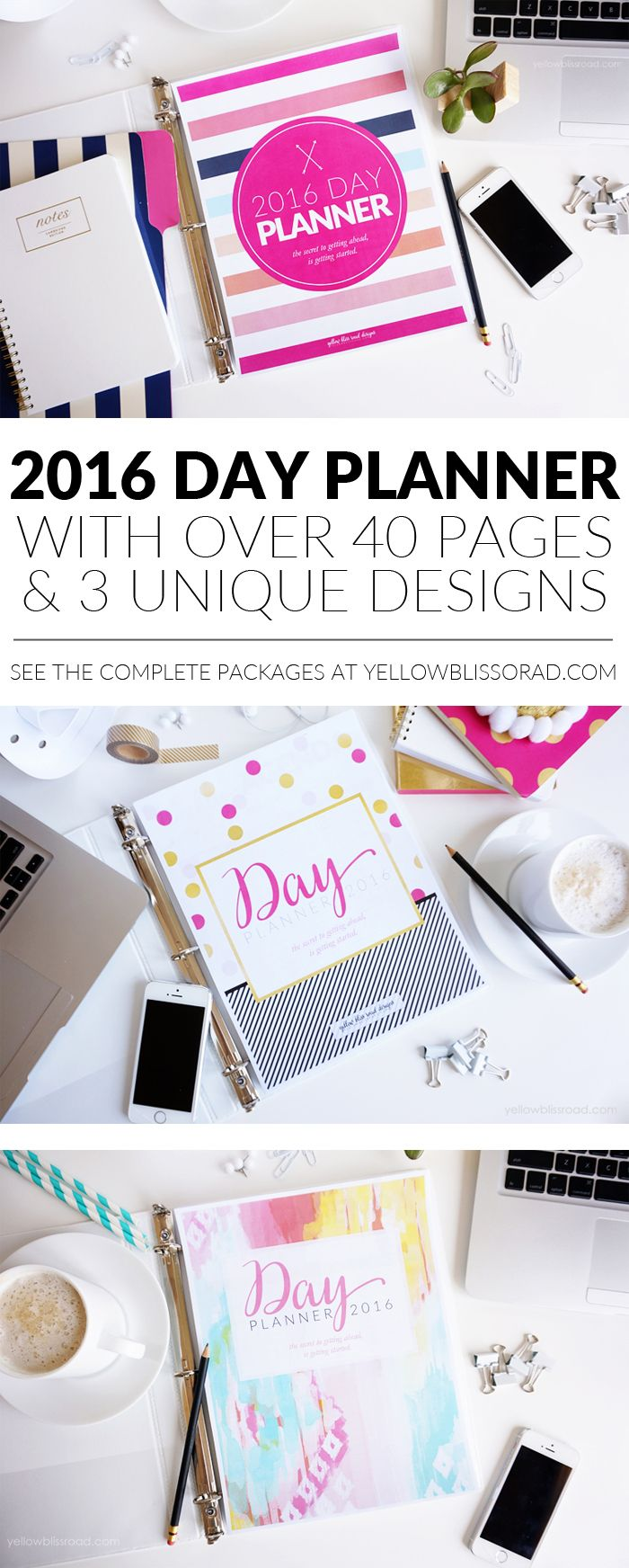 all new 2016 blog planners day planners and menu planners diary