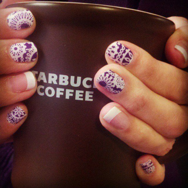 January 2015 Hostess Exclusive Jamberry with Pink and White Tip http ...