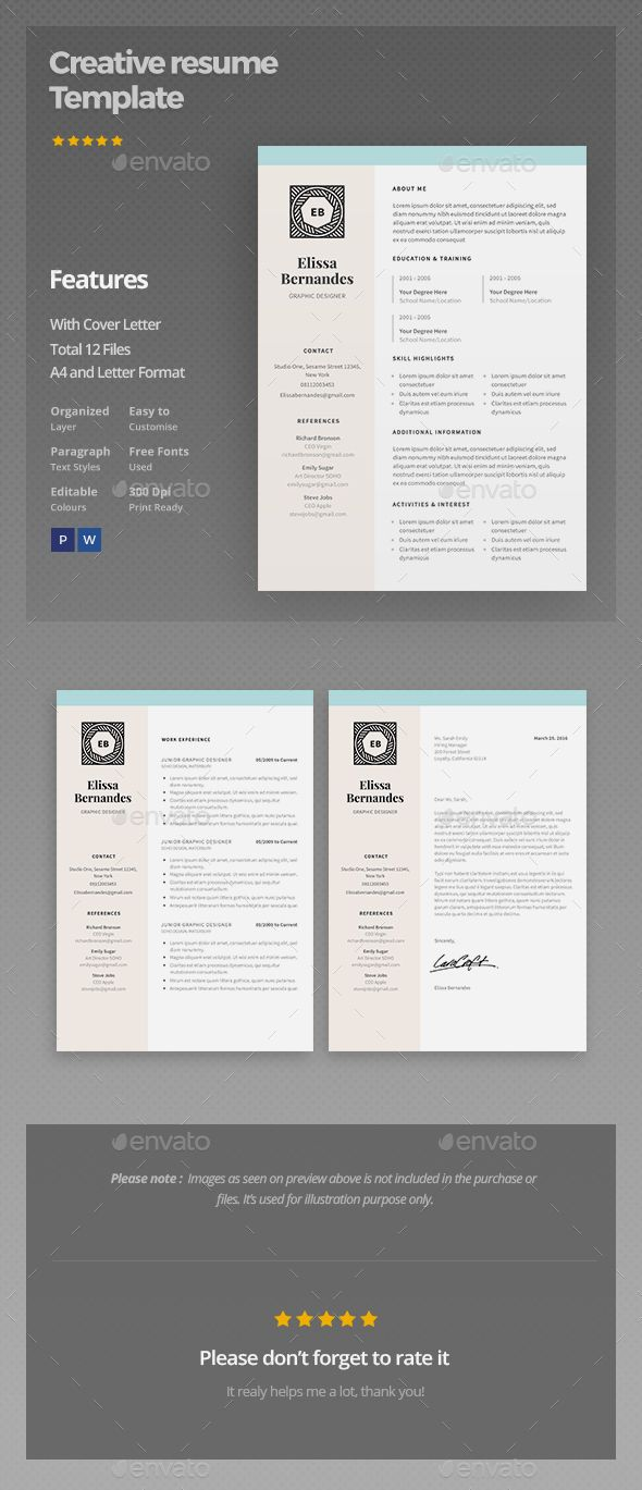 floral pattern resume template cv cover letter on the job hunt