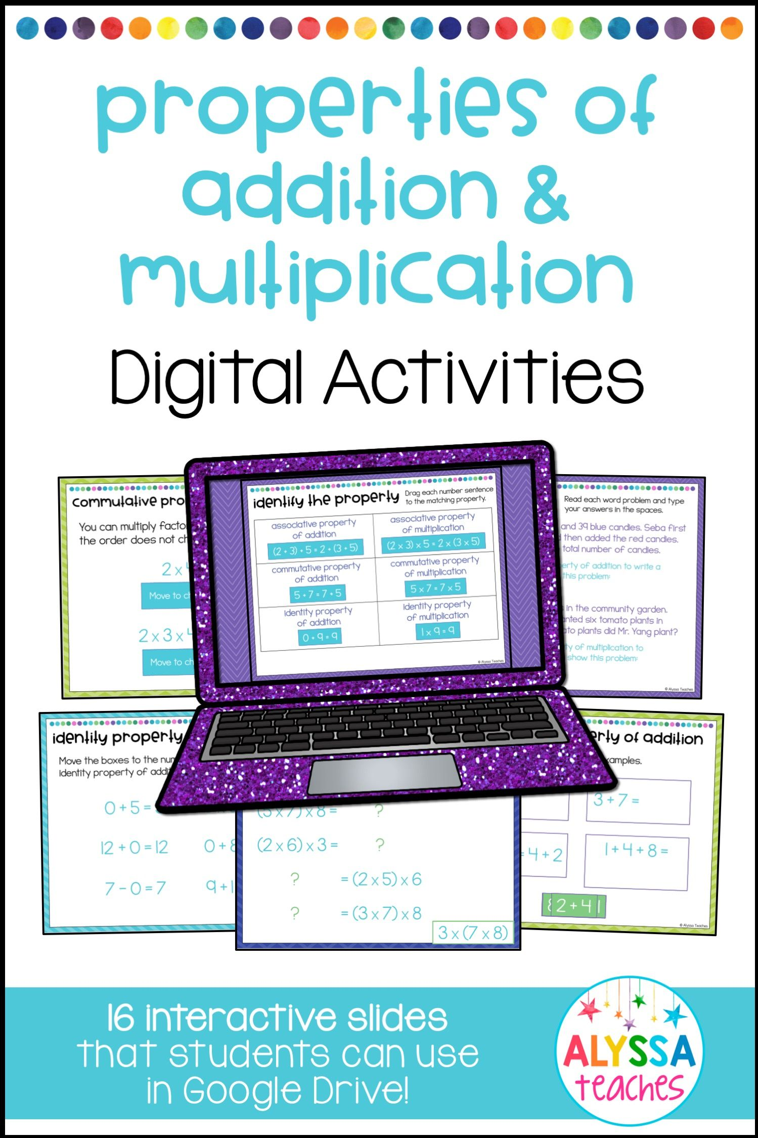 Properties Of Addition And Multiplication Digital