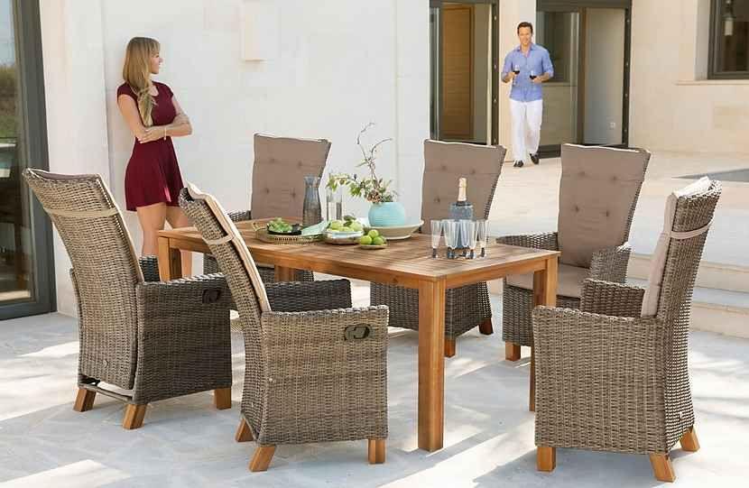Merxx Gartenmobelset Toskana Deluxe Diningset Fur 6 Personen Geeignet Online Kaufen Otto Gartenmobel Aussenmobel Mobelideen