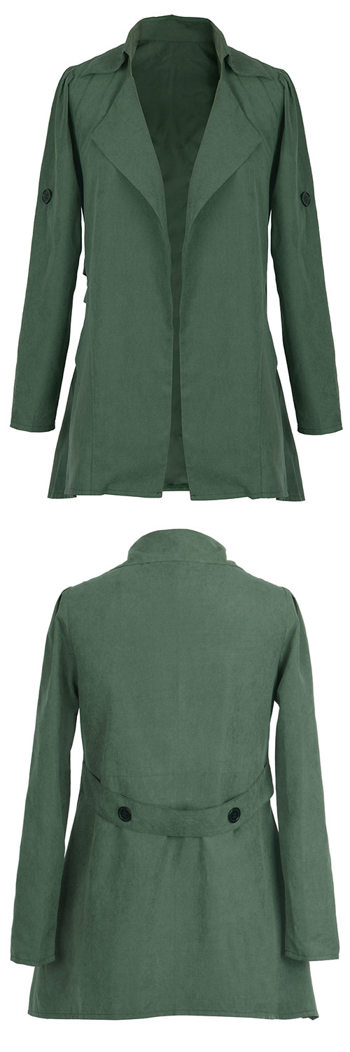 $24.99 Only with free shipping&easy return! You'll always look stylish in the open front coat! It features lapel collar&button at elbow! Take it at Cupshe.com