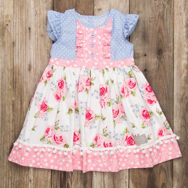 Girls' Clothing (newborn-5t) Outerwear Nwt Little Lass Infants 6m Pink/ Mint Green Roses Tutu Dress Attached Panties