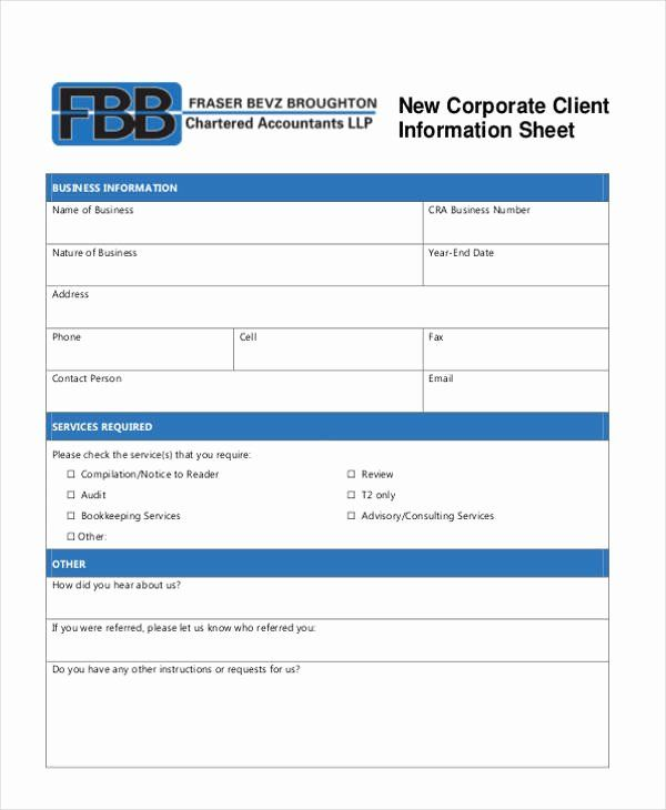 client information form template best of 9 client