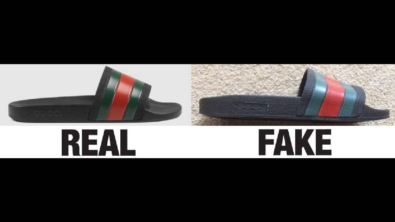 Real Vs Fake Af Gucci Slides Authentic Vs Replica