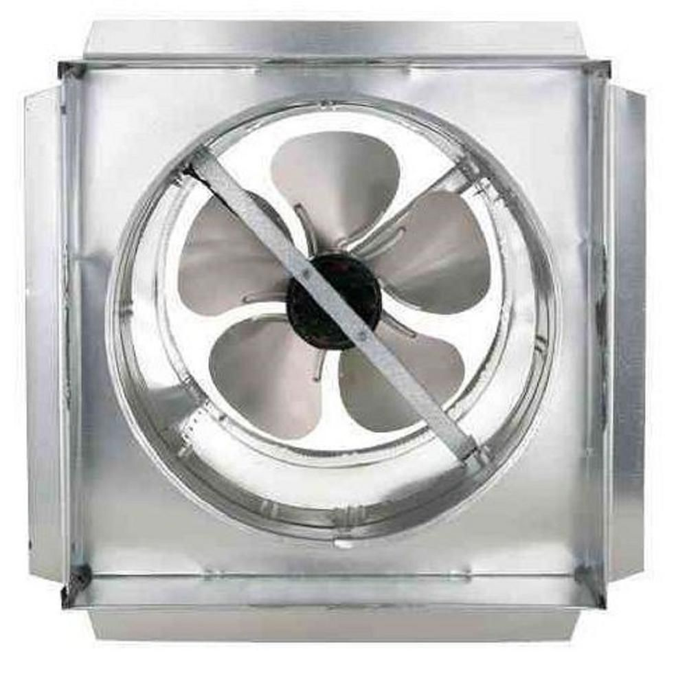 1150 Cfm Galvanized Steel Electric Powered Attic Fan With Adjustable Thermostat Gf 14 The Home Depot In 2020 Attic Fan Powered Attic Fan Garage Ventilation