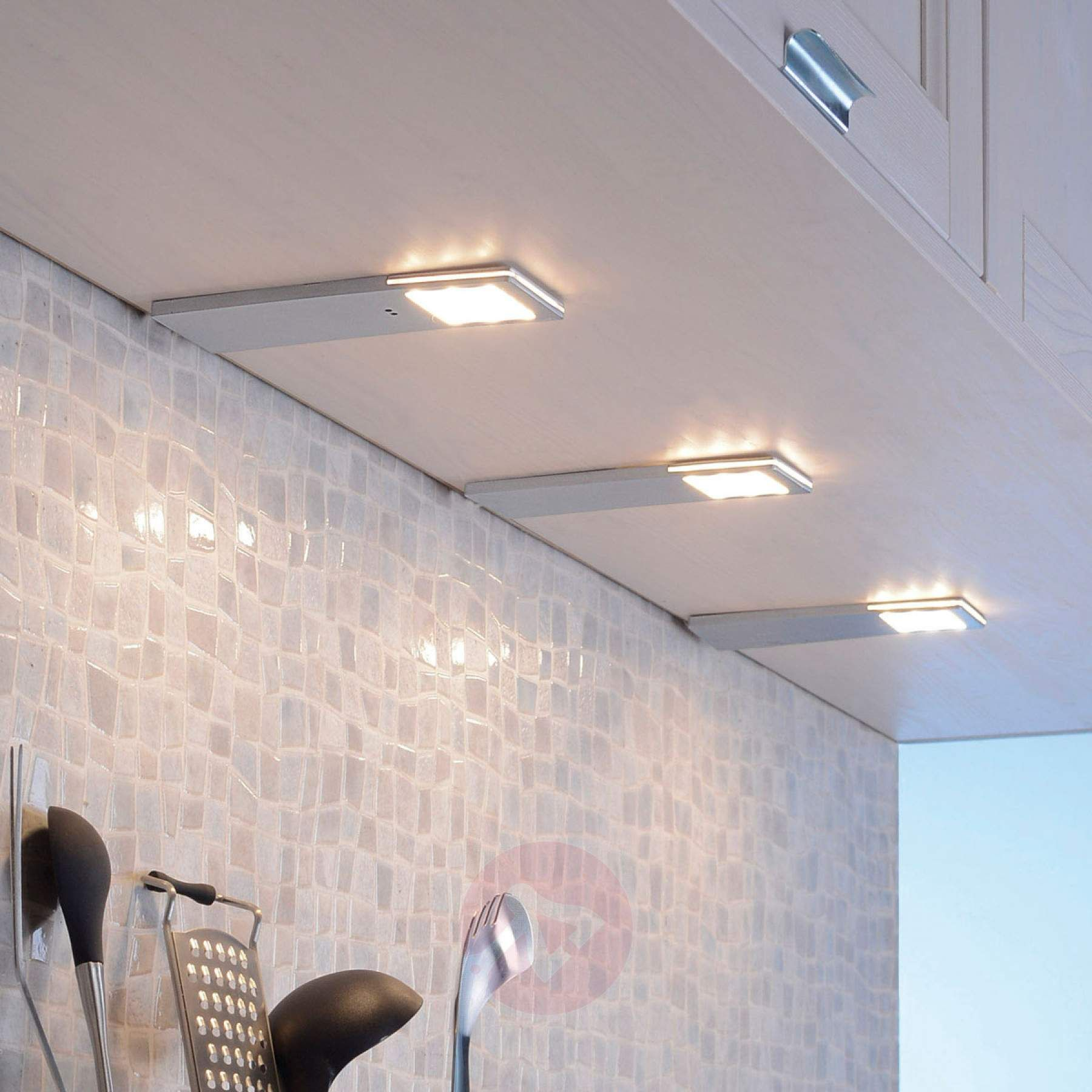 LED underskabslampe Helena 3er sæt sensor 5 cm   Lamper