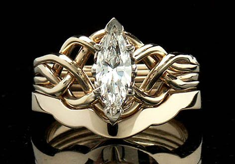 Marquise Diamond Ring A Marquise Diamond Puzzle Ring Is Paired With