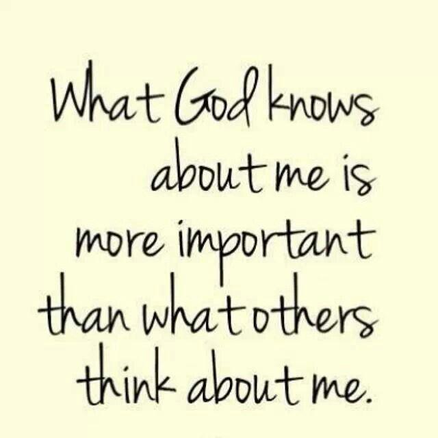 God knows me best