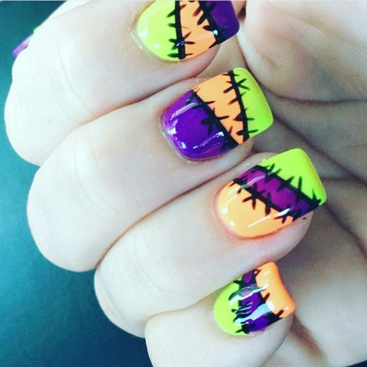 19 Amazing DIY Halloween Nail Art Ideas | Nail nail and Makeup