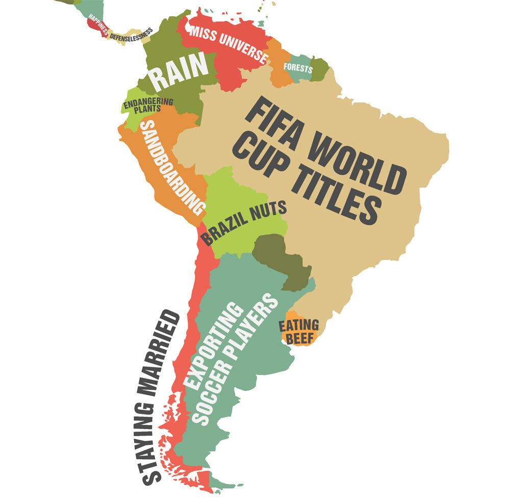 South America Country South America And Geography - World map latin america us