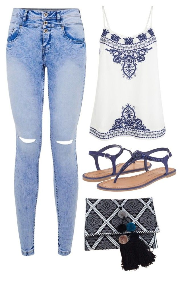 """Untitled #8469"" by beatrizibelo ❤ liked on Polyvore featuring Accessorize and Chinese Laundry"