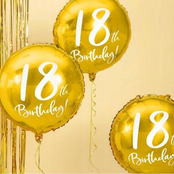 Balon Foliowy Zloty Na 18 Urodziny 30th Birthday Birthday Christmas Bulbs
